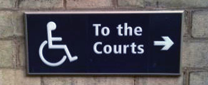 to the courts wayfinding sign header image