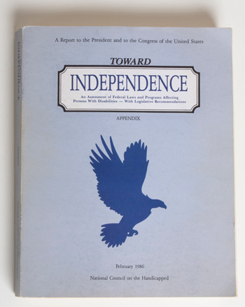 Toward Independence Appendix (cover)